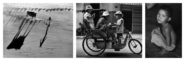 Long Thanh, a professional Black & White photographer who still uses films and develops photographs by hand. Born in 1951 in Nha Trang, he stared learning and doing photography when he was 13 years old